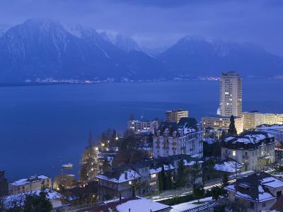 Montreux and Lake Geneva, Switzerland-Walter Bibikow-Photographic Print
