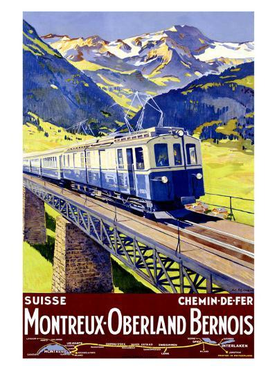 Montreux Oberland-Elzingre-Giclee Print