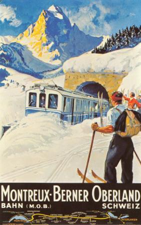 Montreux Ski Poster