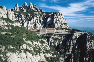 Montserrat Monastery with Montserrat Massif in Background, Catalonia, Spain, 10th-20th Century