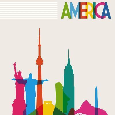 Monument America-cienpies-Art Print