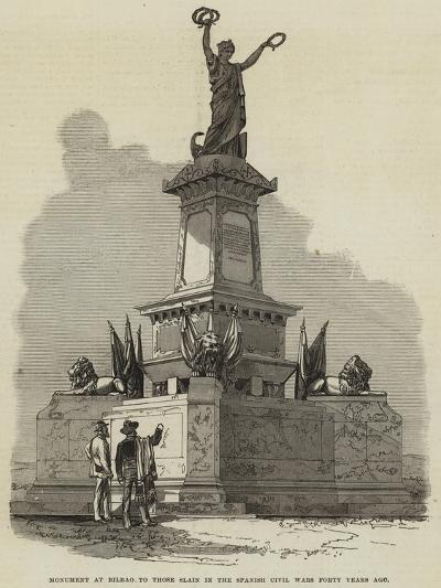 Monument at Bilbao to Those Slain in the Spanish Civil Wars Forty Years Ago--Giclee Print