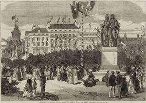 Monument at Geneva of the Union of Geneva with the Swiss Confederation