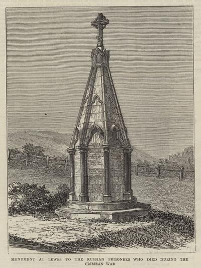 Monument at Lewes to the Russian Prisoners Who Died During the Crimean War--Giclee Print