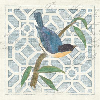 Monument Etching Tile I Blue Bird-Hugo Wild-Art Print