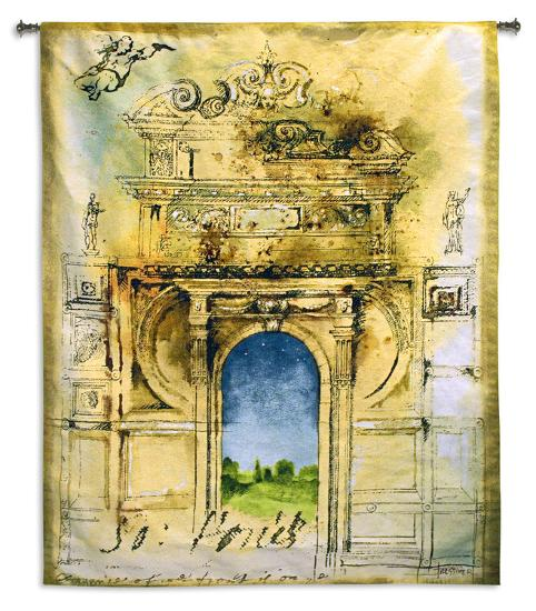 Monument II-Fressiner-Wall Tapestry