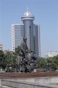 Monument in Front of an Office Building, Tashkent, Uzbekistan
