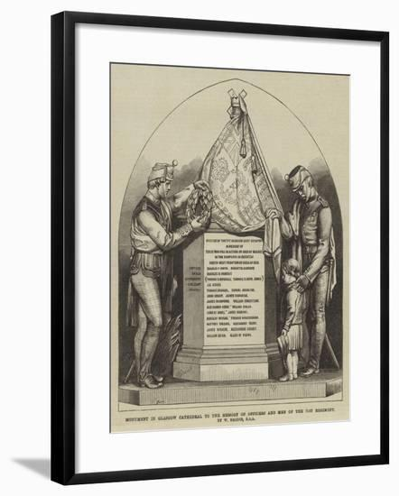 Monument in Glasgow Cathedral to the Memory of Officers and Men of the 71st Regiment--Framed Giclee Print