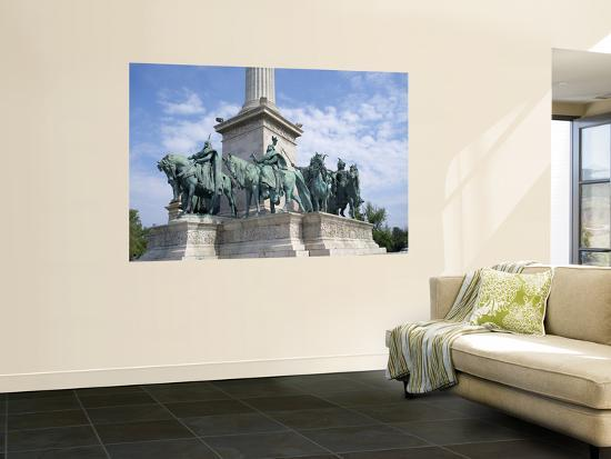 Monument in Heroes' Square, Budapest, Hungary-Jim Engelbrecht-Wall Mural