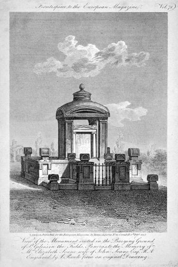 Monument in the Churchyard of St Giles in the Fields, Holborn, London, 1817-Samuel Rawle-Giclee Print