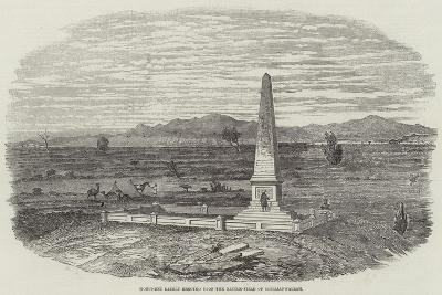 Monument Lately Erected Upon the Battle-Field of Chillianwallah--Giclee Print