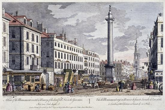 Monument, London, 1794-George Bickham-Giclee Print