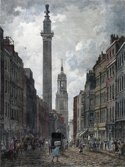 Monument, London, 1795-Thomas Malton II-Giclee Print