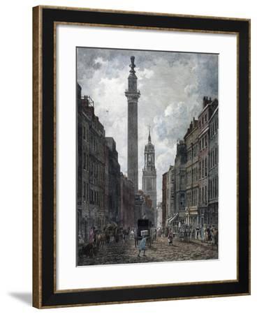 Monument, London, 1795-Thomas Malton II-Framed Giclee Print