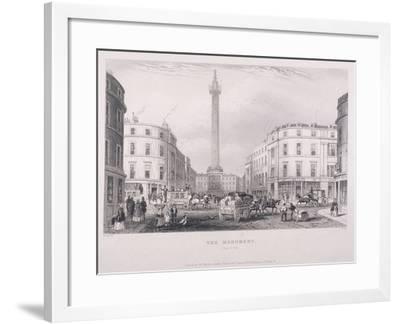 Monument, London, C1850-J Hopkins-Framed Giclee Print