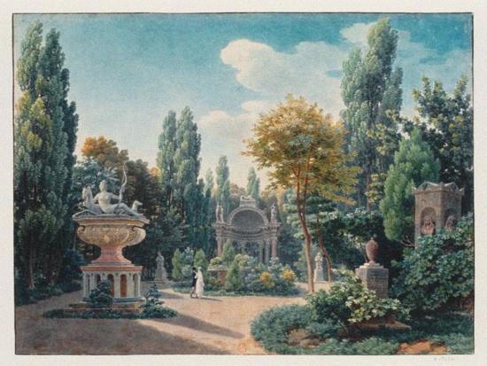 Monument of Diane De Poitiers in the Jardin Du Cloître Des Petits-Augustins, 1815-Jean-Lubin Vauzelle-Giclee Print