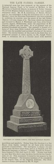 Monument of Father Damien, for the Hawaiian Islands--Giclee Print