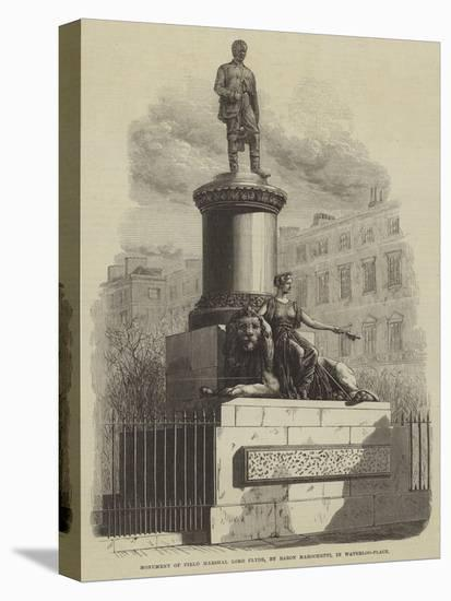 Monument of Field Marshal Lord Clyde, by Baron Marochetti, in Waterloo-Place--Stretched Canvas Print