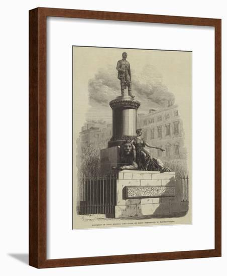 Monument of Field Marshal Lord Clyde, by Baron Marochetti, in Waterloo-Place--Framed Giclee Print