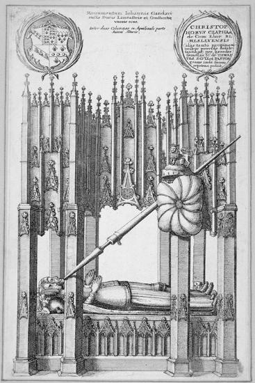 Monument of John of Gaunt and Constance of Castile, Old St Paul's Cathedral, City of London, 1656-Wenceslaus Hollar-Giclee Print
