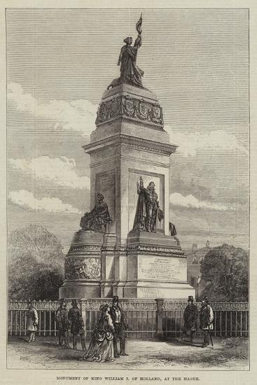 Monument of King William I of Holland, at the Hague--Giclee Print