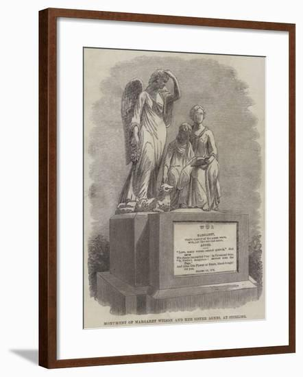 Monument of Margaret Wilson and Her Sister Agnes, at Stirling--Framed Giclee Print