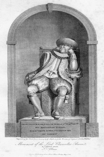 Monument of Sir Francis Bacon, St Michael's Church, St Albans, Hertfordshire, 1806-G Cooke-Giclee Print