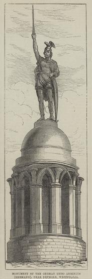 Monument of the German Hero Arminius (Hermann), Near Detmold, Westphalia--Giclee Print