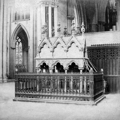 Monument of Walter De Grey, York Minster, York, North Yorkshire, Early 20th Century-George Washington Wilson-Giclee Print