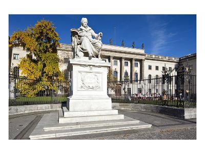 Monument of Wilhelm von Humboldt in front of Humboldt University, Unter den Linden, Berlin, Germany--Art Print