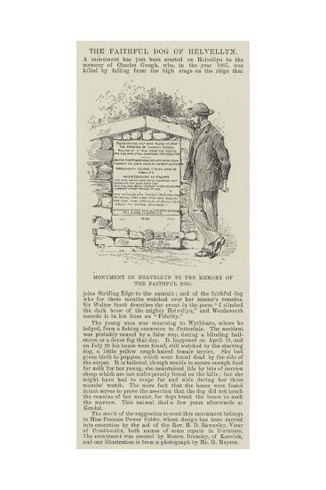 Monument on Helvellyn to the Memory of the Faithful Dog--Giclee Print