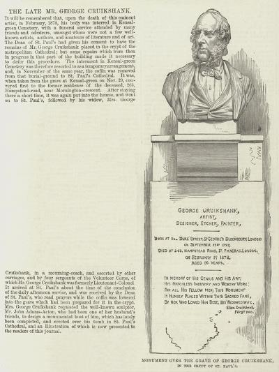 Monument over the Grave of George Cruikshank, in the Crypt of St Paul's--Giclee Print
