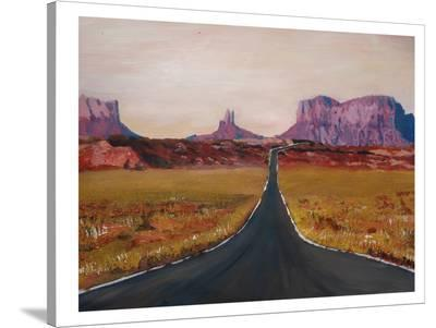 Monument Road-M Bleichner-Stretched Canvas Print
