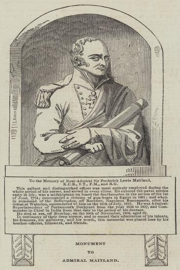 Monument to Admiral Maitland--Giclee Print