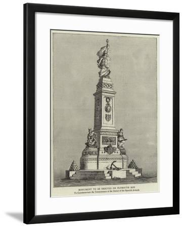 Monument to Be Erected on Plymouth Hoe--Framed Giclee Print
