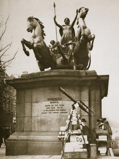 Monument to Boadicea, Westminster Bridge, London, c1926-1927-Unknown-Photographic Print