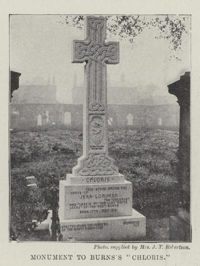 Monument to Burns's Chloris--Giclee Print