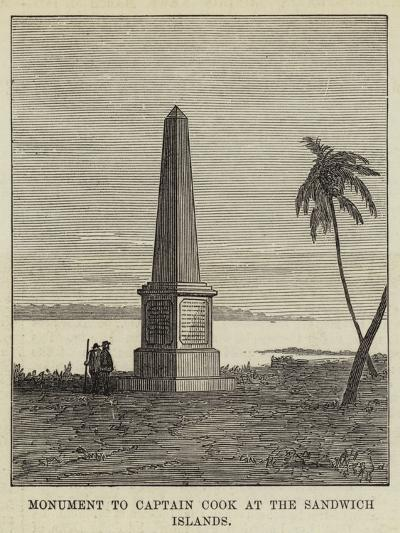 Monument to Captain Cook at the Sandwich Islands--Giclee Print