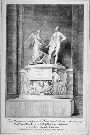Monument to Captain Richard Rundle Burges, St Paul's Cathedral, City of London, 1803--Giclee Print