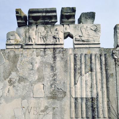Monument to Cartilius Poplicola, Ostie, Rome- Lorenzini-Photographic Print