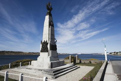 Monument to Celebrate British Victory in Naval Battle of 8 December 1914 Between Royal Navy and Imp--Photographic Print