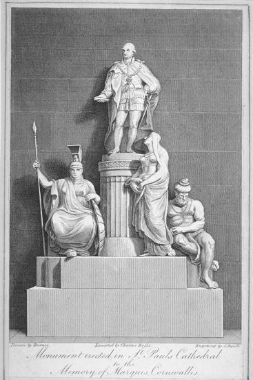 Monument to Charles, Marquis Cornwallis, St Paul's Cathedral, City of London, 1805-Samuel Rawle-Giclee Print