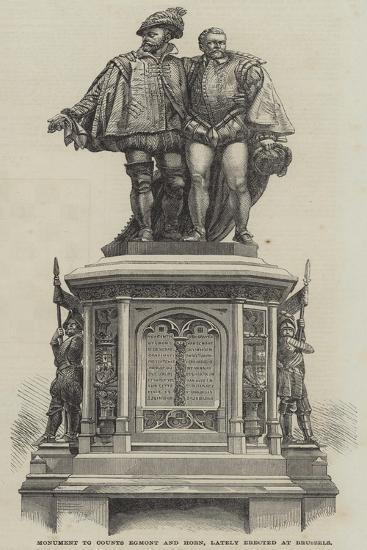 Monument to Counts Egmont and Horn, Lately Erected at Brussels--Giclee Print