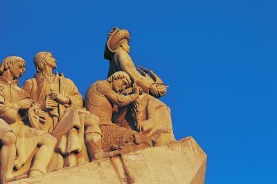 Monument to Discoveries, 1960, on Bank of Tagus River, Belem District, Portugal. Detail--Photographic Print