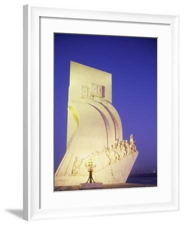 Monument to Discoveries, 1960, on Bank of Tagus River, Belem District, Portugal, Detail--Framed Photographic Print