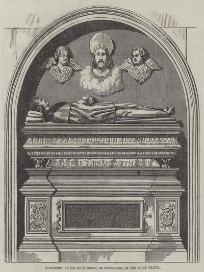 Monument to Dr John Yonge, in the Rolls Chapel--Giclee Print