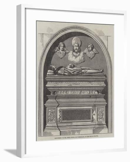 Monument to Dr John Yonge, in the Rolls Chapel--Framed Giclee Print