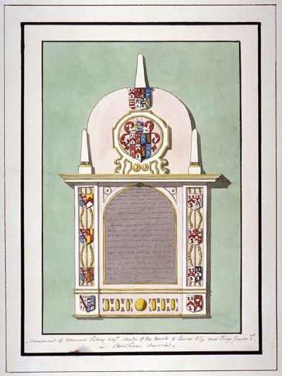 Monument to Edmund Tilney, St Leonard's Church, Streatham, London, C1800--Giclee Print