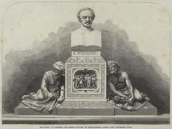 Monument to General Sir James Outram, in Westminster Abbey--Giclee Print