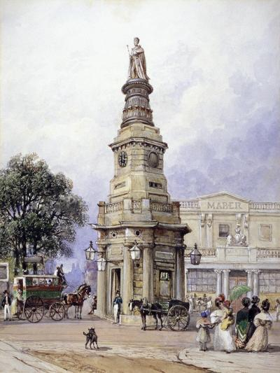 Monument to George Iv, Battle Bridge (Now King's Cros), London, 1835-George Sidney Shepherd-Giclee Print
